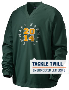 Emmaus High School Hornets Men's V-Neck Raglan Wind Shirt with Tackle Twill