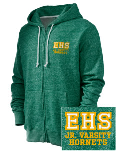 Emmaus High School Hornets Embroidered Men's Marled Full-Zip Hooded Sweatshirt