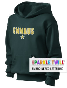 Emmaus High School Hornets Kid's Hooded Sweatshirt with Sparkle Twill™