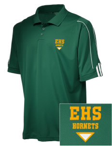 Emmaus High School Hornets adidas Golf Men's ClimaLite 3-Stripes Cuff Polo