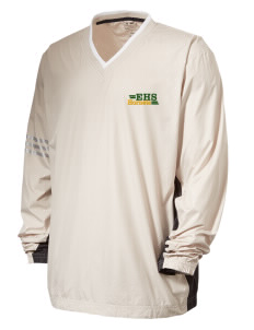 Emmaus High School Hornets Embroidered adidas Men's ClimaLite Colorblock V-Neck Wind Shirt