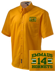 Emmaus High School Hornets Embroidered Men's Easy Care Shirt