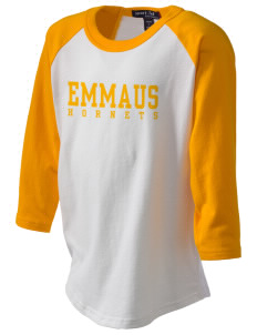 Emmaus High School Hornets Kid's Baseball T-Shirt