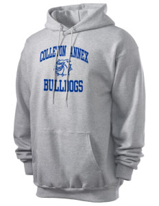 Colleton Middle School Annex Bulldogs Men's 7.8 oz Lightweight Hooded Sweatshirt