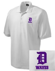 Dacusville Middle School Waves Embroidered Nike Men's Pique Knit Golf Polo