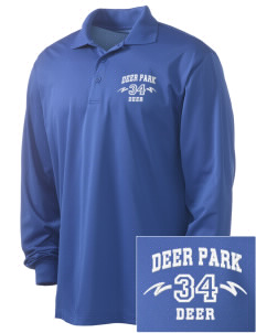 Deer Park Elementary School Deer Embroidered Men's Long Sleeve Micropique Sport-Wick Sport Shirt