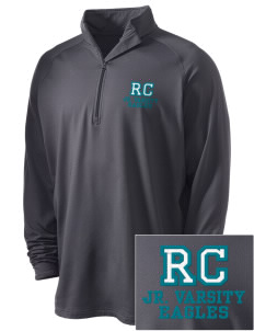 Rock Creek Elementary School Eagles Embroidered Men's Stretched Half Zip Pullover
