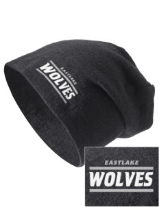 Eastlake High School Wolves Embroidered Slouch Beanie