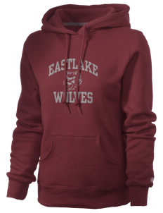 Eastlake High School Wolves Russell Women's Pro Cotton Fleece Hooded Sweatshirt