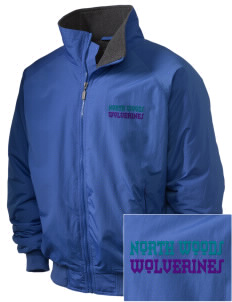 North Woods Elementary School Wolverines Embroidered Holloway Men's Tall Jacket