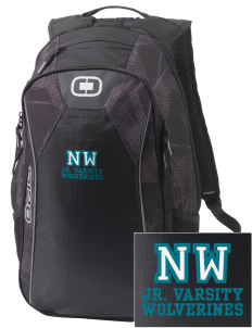 North Woods Elementary School Wolverines Embroidered OGIO Marshall Backpack