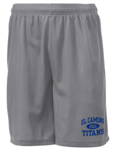 "El Camino Junior High School Titans Men's Mesh Shorts, 7-1/2"" Inseam"