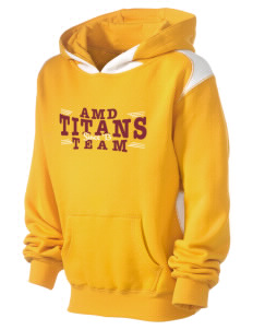 Agbu Manoogian Demirdjian School Titans Kid's Pullover Hooded Sweatshirt with Contrast Color