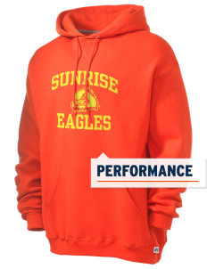 Sunrise School Eagles Russell Men's Dri-Power Hooded Sweatshirt
