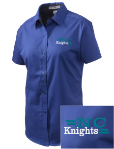 North Cedar Middle School Knights Embroidered Women's Easy Care Short Sleeve Shirt