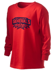 Douglas MacArthur High School Generals Kid's 6.1 oz Long Sleeve Ultra Cotton T-Shirt