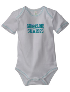 Shoreline Middle School Sharks Baby Zig-Zag Creeper