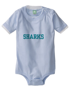 Shoreline Middle School Sharks Baby One-Piece with Shoulder Snaps