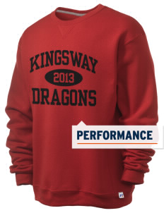 Kingsway Middle School Dragons  Russell Men's Dri-Power Crewneck Sweatshirt