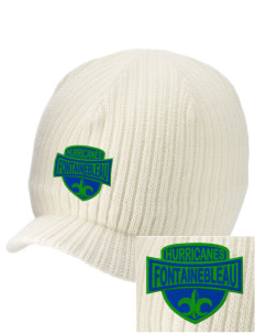 Fontainebleau Junior High School Hurricanes Embroidered Knit Beanie with Visor