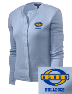 Alden Middle School Bulldogs Embroidered Women's Cardigan Sweater