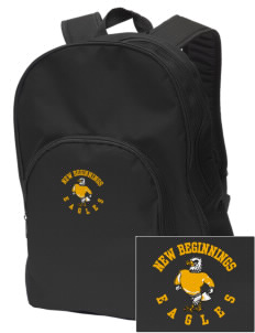 New Beginnings School Eagles Embroidered Value Backpack