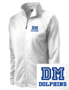 Del Mar Elementary School Dolphins Embroidered Women's Tricot Track Jacket