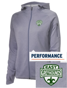 East Elementary School Greyhounds Embroidered Women's Tech Fleece Full-Zip Hooded Jacket