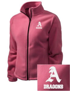 Allison Elementary School Dragons Embroidered Women's Fleece Full-Zip Jacket