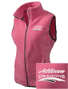 Allison Elementary School Dragons Embroidered Women's Fleece Vest