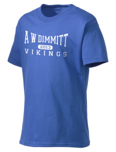 A W Dimmitt Middle School Vikings Kid's Lightweight T-Shirt