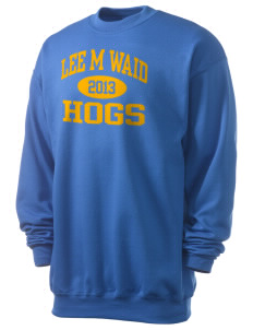 Lee M Waid Elementary School Hogs Men's 7.8 oz Lightweight Crewneck Sweatshirt