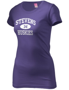 Stevens Elementary School Huskies  Juniors' Fine Jersey Longer Length T-Shirt