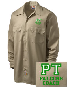 Pine Tree Elementary School Falcons Embroidered Dickies Men's Long-Sleeve Workshirt