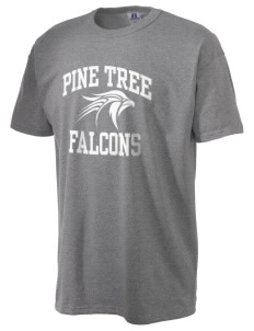Pine Tree Elementary School Falcons  Russell Men's NuBlend T-Shirt