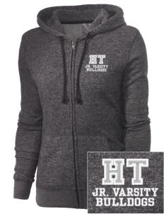 Holy Trinity School Bulldogs Embroidered Women's Marled Full-Zip Hooded Sweatshirt