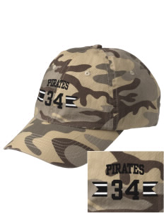 Dover Middle School Pirates Embroidered Camouflage Cotton Cap