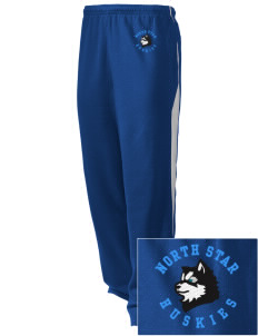 North Star Elementary School Huskies Embroidered Holloway Men's Pivot Warm Up Pants