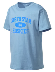 North Star Elementary School Huskies Kid's Lightweight T-Shirt