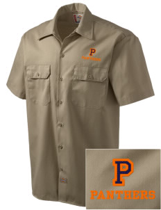 Polytechnic School Panthers Embroidered Dickies Men's Short-Sleeve Workshirt