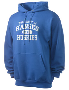 Hansen Elementary School Huskies Men's 7.8 oz Lightweight Hooded Sweatshirt