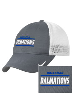 Dollahan Elementary School Dalmations Embroidered Nike Golf Mesh Back Cap