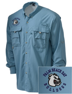 Palm Beach Day Academy Bulldogs Embroidered Men's Explorer Shirt with Pockets