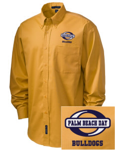Palm Beach Day Academy Bulldogs Embroidered Men's Easy-Care Shirt