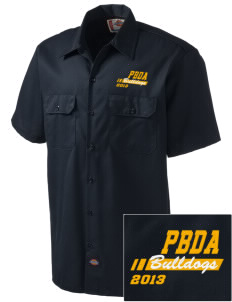 Palm Beach Day Academy Bulldogs Embroidered Dickies Men's Short-Sleeve Workshirt