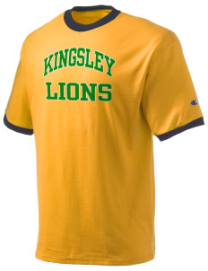 Kingsley Elementary School Lions Champion Men's Ringer T-Shirt