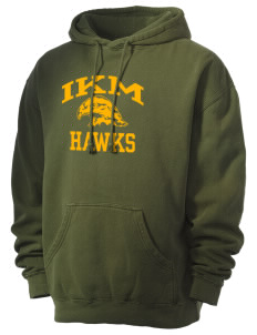 IKM Middle School Hawks Men's 80/20 Pigment Dyed Hooded Sweatshirt