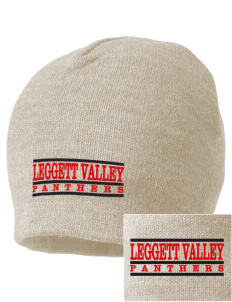 Leggett Valley School Panthers Embroidered Beanie