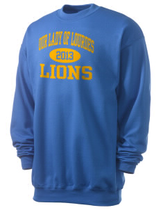 Our Lady Of Lourdes School Lions Men's 7.8 oz Lightweight Crewneck Sweatshirt