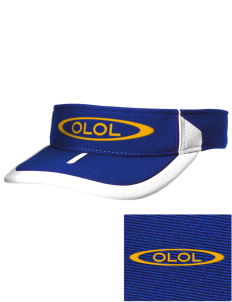 Our Lady Of Lourdes School Lions Embroidered M2 Sideline Adjustable Visor